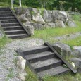 Iさん枕木階段
