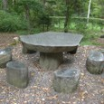 Tさん石テーブル